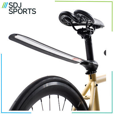 Plume Recoiling Rolling Stainless Steel Rear Bike Mudguard Black/silver