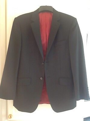"""LAMBRETTA BLACK SUIT JACKET 42"""" Med To Large Fit Ex Cond"""