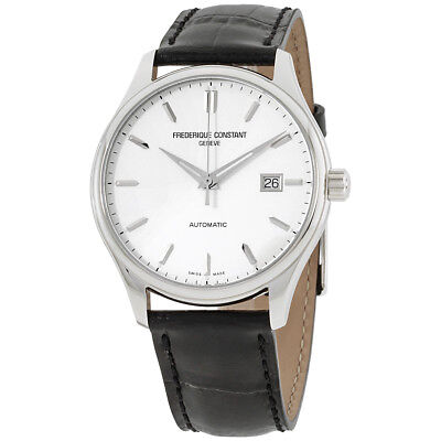 Frederique Constant Silver Dial Leather Strap Men'S Watch Fc-303S5B6