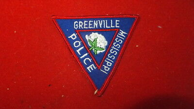 Police Patch  -  Greenville  , Mississippi  - US Ver#1