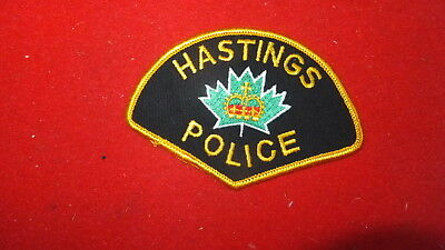 Police Patch  -  Hastings, Ontario - Canada