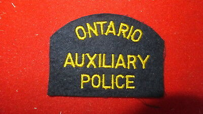Police Patch  -  Ontario Auxiliary Police - Canada