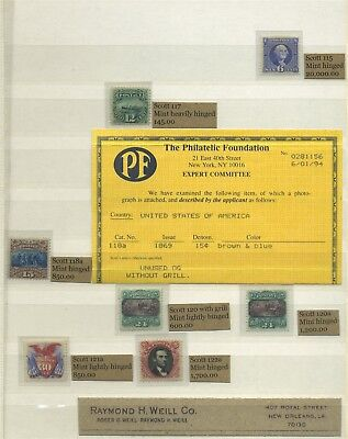 US Mint Pictorials with 24c x 3 plus 30c and 90c with certs Cat $77,480