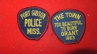 Police Patches(2)  - Port Gibson  , Mississippi  - US