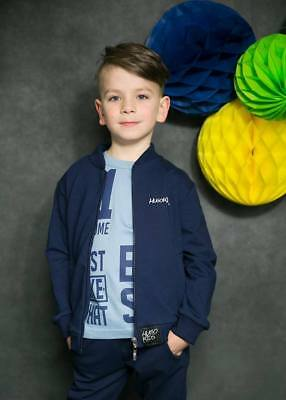 Navy blue Jumper with Zip for Boys brand new with logo Long sleeve 2/3 years