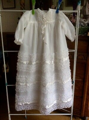 Vintage Baby Christening Dress Gown