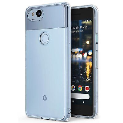For Google Pixel 2 | Ringke® [FUSION] Clear PC Shockproof TPU Bumper Cover Case