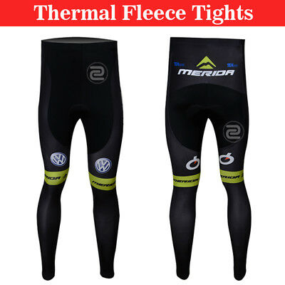 3XL Size Mens Cycling Long Thermal Pants Riding Race Warm Fleece Ciclismo Tights