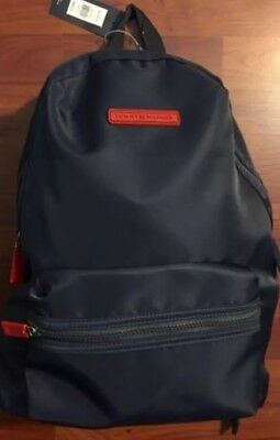 Tommy Hilfiger Nylon Backpack School Travel Bag Laptop Sleeve Navy Blue NWT
