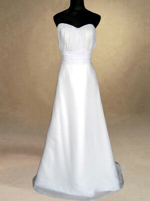 White Wedding Dress/Bridal Gown/Evening/Prom Dress  SIZE 16 Bargain