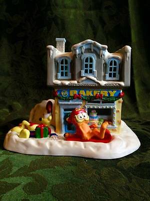 "Garfield's Christmas Village ""The Bakery"" by Jim Davis -  Danbury Mint"