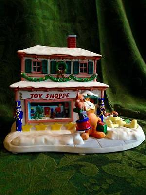 "Garfield's Christmas Village ""The Toy Shoppe"" by Jim Davis - Danbury Mint"