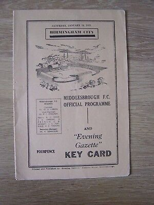 1958/59 Fa Cup : Middlesbrough V Birmingham City