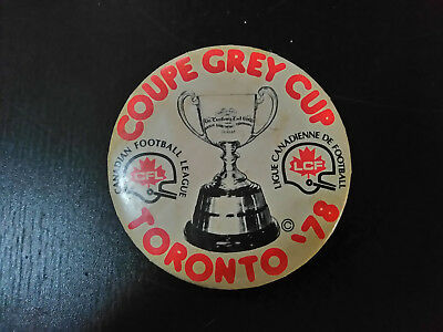 Coupe Grey Cup Toronto 1978 CFL Canadian Football League Pin Button
