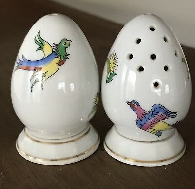 Herend Hungary Salt And Pepper Porcelain, Handpainted.