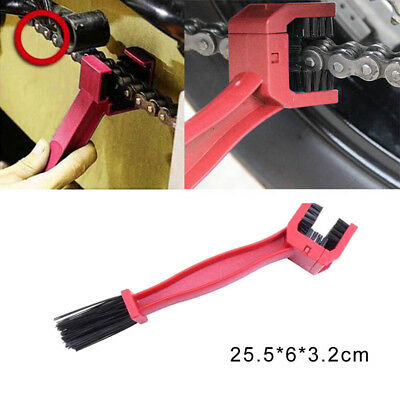 Motorcycle Atv Bike Drive Chain Cleaning Cleaner Brush Clean The Grunge Off