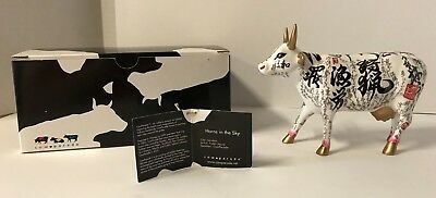 Cow Parade Collectible Figurine 2003 Horns in the Sky #7327 Retired NEW