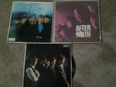 The rolling Stones 3 Lps. After-Math, Between The Buttons & No:-1