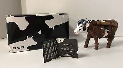 Cow Parade Collectible Figurine 2003 Dairy Crockett #7283 Retired Rare NEW