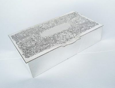 Viners Cigarette Cigar Box Sheffield Alpha Plate Silver Plated Trinket Boxes