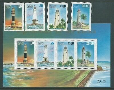 Ceylon Sri Lanka 1996 Lighthouses Set &  Minisheet   Mnh Fresh!