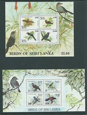 Ceylon Sri Lanka 4 X Different Bird Birds Minisheets 2 Scans  Mnh Nice!