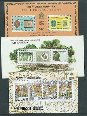 Ceylon Sri Lanka 6 Different Mnh Minisheets 2 Scans Colourful!