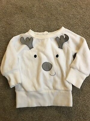 Baby Reindeer Christmas Sweater Size 0-3 Months