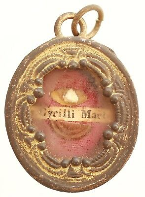 Antique First Class Reliquary - Saint Cyril Martyr
