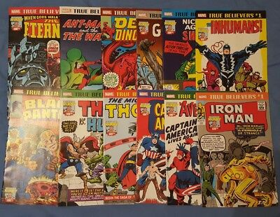 True Believers: Kirby 100Th. - Complete 12 Issue Set . 1St App Thor/groot Etc...