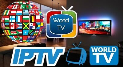 1 Month World Wide Iptv Over 3300 Channels All Over The World