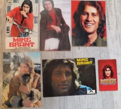 MIKE BRANT - 3 photos  - 2 cartes + 1 magnet