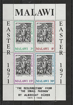 Malawi - 1971 - Easter Paintings - Ms - Mnh