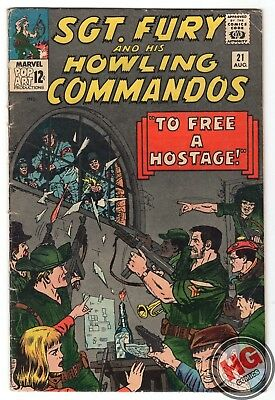 Sgt. Fury and His Howling Commandos #21 8/65 Silver Age Marvel Comics Stan Lee
