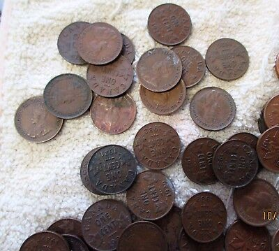 Canada Canadian 1 One Cent Coins Over 100 1920's & Up