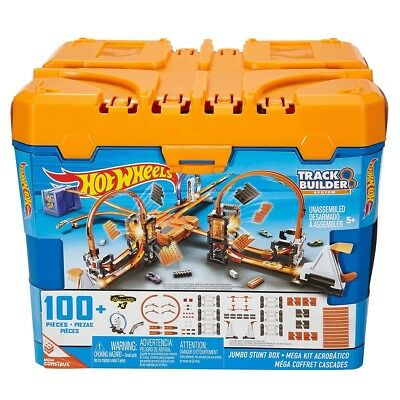 Hot Wheels Track Builder Jumbo 100+ Pieces Stunt Box