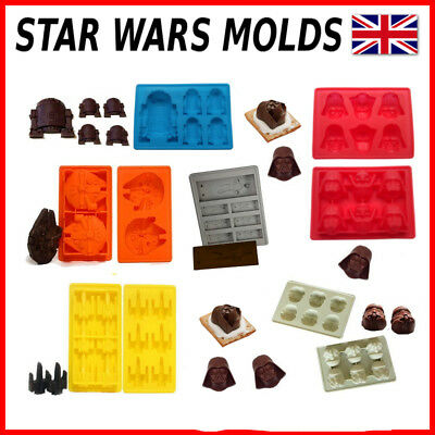 Star Wars Silicon Chocolate Baking Mould Cake Mold R2-D2 Darth Vader Han Solo