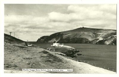 Unst - a photographic postcard of Muckle Flugga Shore Station