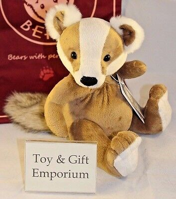 HALF PRICE! Charlie Bears Baby Boutique GUNTHER Badger (Brand New Stock!)