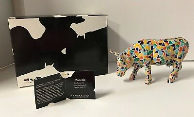 Cow Parade Collectible Figurine 2002 Moozaic #9143 Retired NEW