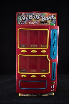 """Working Skittles M&M Candy Vending Machine Piggy Bank Snickers Twix 14"""" Tall"""