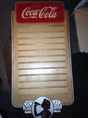 Old Coca Cola Coke Wood Menu Board Soda Fountain Not Porcelain Sign Or Light