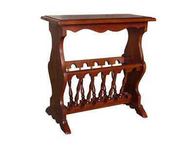 Antique Reproduction Mahogany Magazine Rack Side Table Living Room Furniture