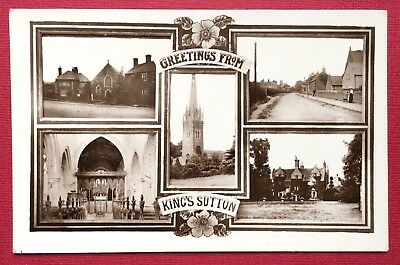 Kings Sutton, Multiview, Real Photographic, Posted 1920