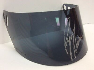 Ryan Newman Autographed Driver Used Helmet Visor By Simpson W/coa