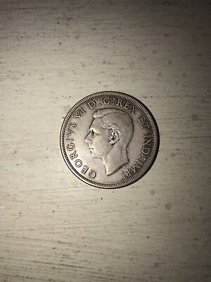 1947 Canadian Silver Dollar Pointed 7 Coin Money Monies Currency Rare