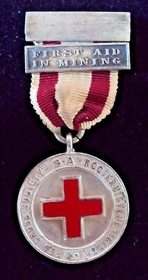 Early South Africa Red Cross Society Stg Silver Medal Complete With Ribbon & Bar