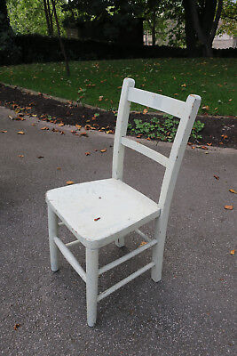 Vintage Child's Wooden Chair - Pale Green
