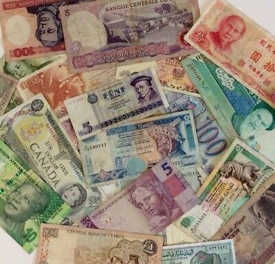 Lot Of 25 World Banknotes,vf