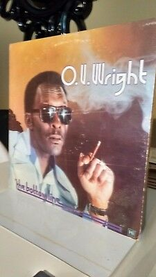 O.V WRIGHT - THE BOTTOM LINE VINYL 1978 US IMPORT soul/funk collection